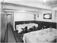 Lovcen ship second class dining room