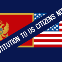 Restitution Montenegro USA flags