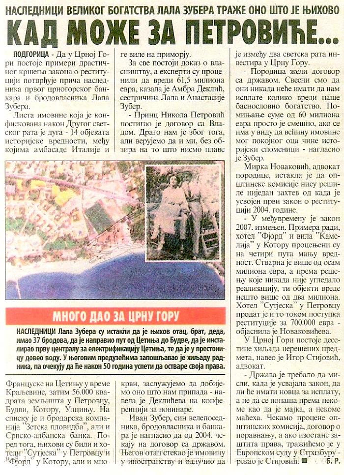 Vecernje Novosti Beograd 30-06-2011